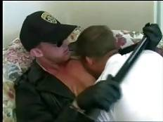 GayBearsHardcore - Police officer Kelly was showing the latest cops on the block their way around when he got in a horny mood and decided to give the newbies a little test. He ordered them to get down and take turns in sucking his huge cock, the two compl