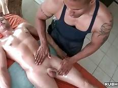 Rubber Examines Client`s Muscles 3