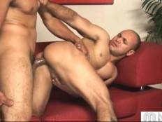 Muscled dude gets his eager tight love hole deeply attacked.