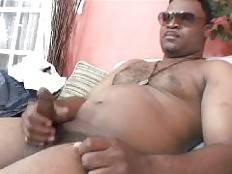 Cash Montague is a hot black dude whos heavy-set and has a long thick pole inside his pants. You will find him in the living room, taking his pants off to unleash his raging dick. Watch this black gay hottie jerk off and get off on film.