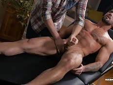 This long-awaited scene features Zack Lemec`s first gay massage. Watch as I worship his amazing body from head to toe then give him the handjob of his life until he shoots a huge load. From what he could remember this was his longest orgasm preceding a cu